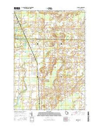 Nichols Wisconsin Current topographic map, 1:24000 scale, 7.5 X 7.5 Minute, Year 2016