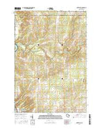 Nutterville Wisconsin Current topographic map, 1:24000 scale, 7.5 X 7.5 Minute, Year 2015 from Wisconsin Map Store