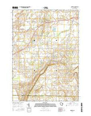 Oakfield Wisconsin Current topographic map, 1:24000 scale, 7.5 X 7.5 Minute, Year 2015 from Wisconsin Maps Store