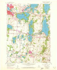 Oconomowoc East Wisconsin Historical topographic map, 1:24000 scale, 7.5 X 7.5 Minute, Year 1959