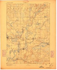 Oconomowoc Wisconsin Historical topographic map, 1:62500 scale, 15 X 15 Minute, Year 1892