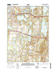 Oconomowoc East Wisconsin Current topographic map, 1:24000 scale, 7.5 X 7.5 Minute, Year 2015 from Wisconsin Maps Store