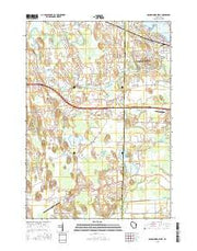Oconomowoc West Wisconsin Current topographic map, 1:24000 scale, 7.5 X 7.5 Minute, Year 2015 from Wisconsin Maps Store