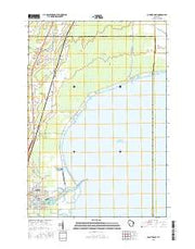 Oconto East Wisconsin Current topographic map, 1:24000 scale, 7.5 X 7.5 Minute, Year 2015 from Wisconsin Maps Store
