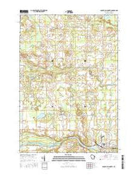 Oconto Falls North Wisconsin Current topographic map, 1:24000 scale, 7.5 X 7.5 Minute, Year 2016