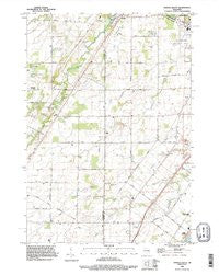 Oneida South Wisconsin Historical topographic map, 1:24000 scale, 7.5 X 7.5 Minute, Year 1992