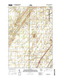 Oneida South Wisconsin Current topographic map, 1:24000 scale, 7.5 X 7.5 Minute, Year 2016