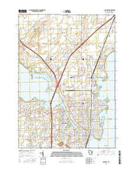 Oshkosh Wisconsin Current topographic map, 1:24000 scale, 7.5 X 7.5 Minute, Year 2016