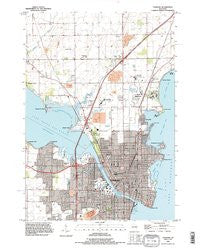 Oshkosh Wisconsin Historical topographic map, 1:24000 scale, 7.5 X 7.5 Minute, Year 1992