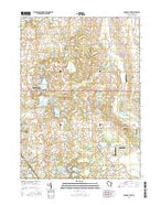 Paddock Lake Wisconsin Current topographic map, 1:24000 scale, 7.5 X 7.5 Minute, Year 2016 from Wisconsin Map Store