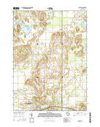 Palmyra Wisconsin Current topographic map, 1:24000 scale, 7.5 X 7.5 Minute, Year 2016 from Wisconsin Map Store