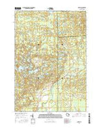 Parrish Wisconsin Current topographic map, 1:24000 scale, 7.5 X 7.5 Minute, Year 2015 from Wisconsin Map Store