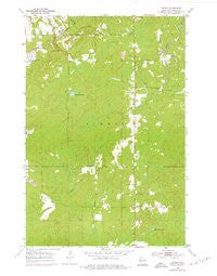 Patzau Wisconsin Historical topographic map, 1:24000 scale, 7.5 X 7.5 Minute, Year 1954