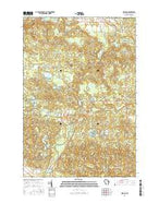Pearson Wisconsin Current topographic map, 1:24000 scale, 7.5 X 7.5 Minute, Year 2015 from Wisconsin Map Store
