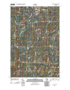 Peeksville Wisconsin Historical topographic map, 1:24000 scale, 7.5 X 7.5 Minute, Year 2010