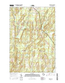 Peeksville Wisconsin Current topographic map, 1:24000 scale, 7.5 X 7.5 Minute, Year 2015