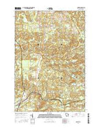Pembine Wisconsin Current topographic map, 1:24000 scale, 7.5 X 7.5 Minute, Year 2016 from Wisconsin Map Store