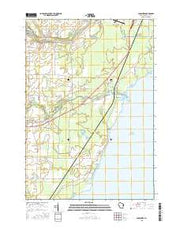 Pensaukee Wisconsin Current topographic map, 1:24000 scale, 7.5 X 7.5 Minute, Year 2015 from Wisconsin Maps Store