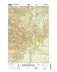 Perkinstown Wisconsin Current topographic map, 1:24000 scale, 7.5 X 7.5 Minute, Year 2015