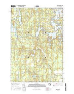 Pier Lake Wisconsin Current topographic map, 1:24000 scale, 7.5 X 7.5 Minute, Year 2015 from Wisconsin Map Store