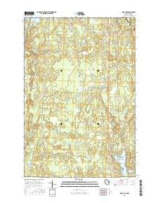 Pine Lake Wisconsin Current topographic map, 1:24000 scale, 7.5 X 7.5 Minute, Year 2015