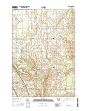 Poland Wisconsin Current topographic map, 1:24000 scale, 7.5 X 7.5 Minute, Year 2015 from Wisconsin Maps Store