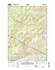 Porterfield Wisconsin Current topographic map, 1:24000 scale, 7.5 X 7.5 Minute, Year 2016 from Wisconsin Maps Store