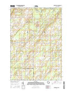 Porterfield SW Wisconsin Current topographic map, 1:24000 scale, 7.5 X 7.5 Minute, Year 2016 from Wisconsin Map Store
