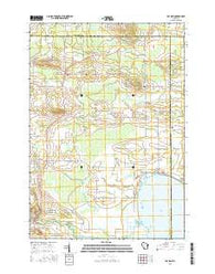 Poy Sippi Wisconsin Current topographic map, 1:24000 scale, 7.5 X 7.5 Minute, Year 2016