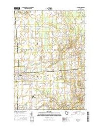 Pulaski Wisconsin Current topographic map, 1:24000 scale, 7.5 X 7.5 Minute, Year 2016