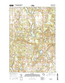 Range Wisconsin Current topographic map, 1:24000 scale, 7.5 X 7.5 Minute, Year 2015