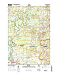 Readfield Wisconsin Current topographic map, 1:24000 scale, 7.5 X 7.5 Minute, Year 2016