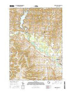 Reedsburg West Wisconsin Current topographic map, 1:24000 scale, 7.5 X 7.5 Minute, Year 2016 from Wisconsin Map Store