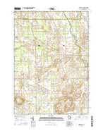 Reedsville Wisconsin Current topographic map, 1:24000 scale, 7.5 X 7.5 Minute, Year 2015 from Wisconsin Map Store