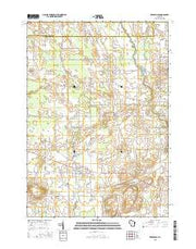 Reedsville Wisconsin Current topographic map, 1:24000 scale, 7.5 X 7.5 Minute, Year 2015 from Wisconsin Maps Store