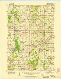 Reedsville Wisconsin Historical topographic map, 1:62500 scale, 15 X 15 Minute, Year 1954
