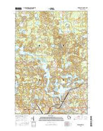 Rhinelander Wisconsin Current topographic map, 1:24000 scale, 7.5 X 7.5 Minute, Year 2015 from Wisconsin Map Store