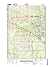 Rocky Run Wisconsin Current topographic map, 1:24000 scale, 7.5 X 7.5 Minute, Year 2015 from Wisconsin Maps Store