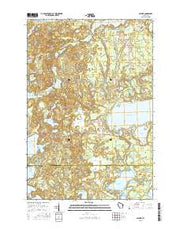 Sayner Wisconsin Current topographic map, 1:24000 scale, 7.5 X 7.5 Minute, Year 2015 from Wisconsin Maps Store