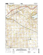 Sharon Wisconsin Current topographic map, 1:24000 scale, 7.5 X 7.5 Minute, Year 2016 from Wisconsin Map Store