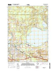 Shawano Wisconsin Current topographic map, 1:24000 scale, 7.5 X 7.5 Minute, Year 2016