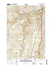 Sheboygan Falls Wisconsin Current topographic map, 1:24000 scale, 7.5 X 7.5 Minute, Year 2016 from Wisconsin Maps Store
