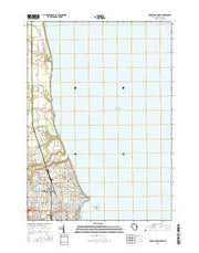 Sheboygan North Wisconsin Current topographic map, 1:24000 scale, 7.5 X 7.5 Minute, Year 2016 from Wisconsin Maps Store