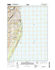 Sheboygan South Wisconsin Current topographic map, 1:24000 scale, 7.5 X 7.5 Minute, Year 2016 from Wisconsin Maps Store