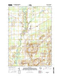 Shiocton Wisconsin Current topographic map, 1:24000 scale, 7.5 X 7.5 Minute, Year 2016
