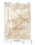 Shopiere Wisconsin Current topographic map, 1:24000 scale, 7.5 X 7.5 Minute, Year 2016 from Wisconsin Map Store