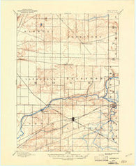 Shopiere Wisconsin Historical topographic map, 1:62500 scale, 15 X 15 Minute, Year 1893
