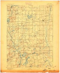Silver Lake Wisconsin Historical topographic map, 1:62500 scale, 15 X 15 Minute, Year 1893