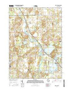 Silver Lake Wisconsin Current topographic map, 1:24000 scale, 7.5 X 7.5 Minute, Year 2016 from Wisconsin Map Store