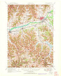 Sparta Wisconsin Historical topographic map, 1:62500 scale, 15 X 15 Minute, Year 1947
